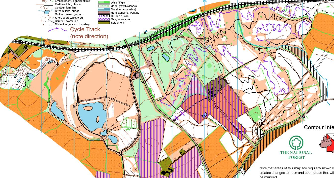 Willesley EMOA League December 28th 2011 Orienteering Map from
